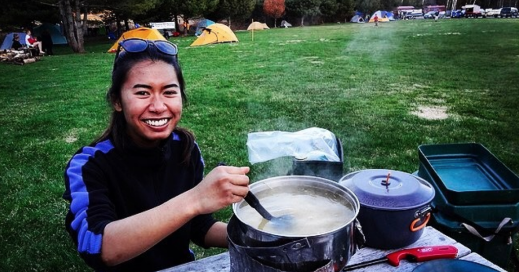 Cooking Dinner at Campsite at Adventure  Bound