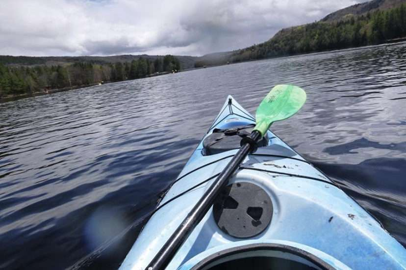 Kayaking in The Forks, Maine