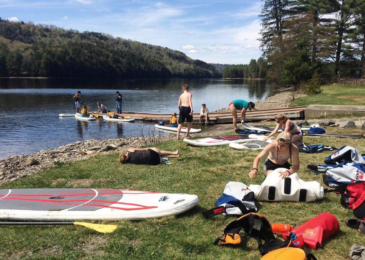 SUPing at Adventure Bound