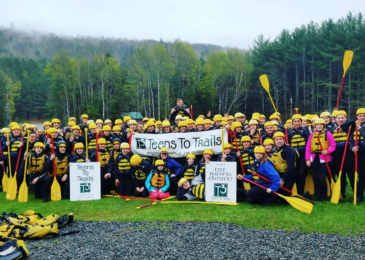 Maine Outing Clubs and Teens to Trails Visit Adventure Bound for Spring Thing!