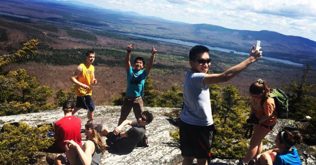 Hiking Pleasant Pond Mountain in Maine