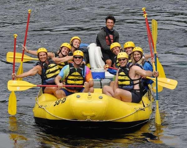 Family rafting vacation